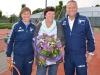 Ted Brouwer geflankeerd door Sonja Ooijendijk en Jack Engelaar Foto Nico de Gouw